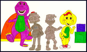 Dinos Dancing With Robots