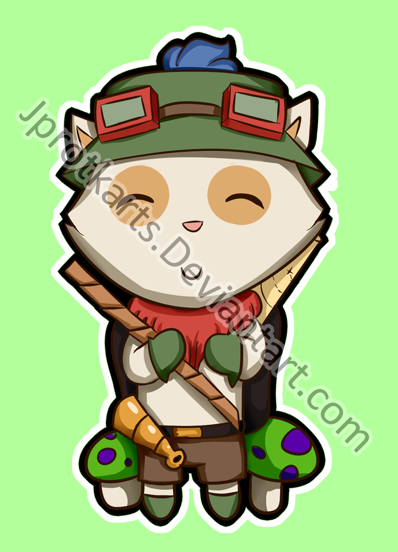 Chibi Teemo - League of Legends by jprotkarts on DeviantArt  Chibi Teemo - L...