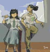 Highschool Uniforms by grecoarellano