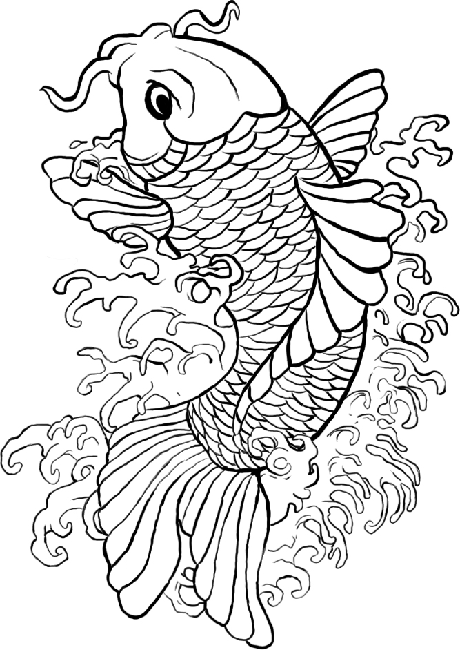 Line Drawing Koi Fish : Koi line art by samshootsfilm on deviantart