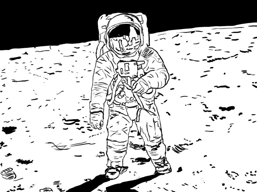 how to draw back of an astronaut