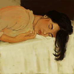 sleepingB by rgxsingh