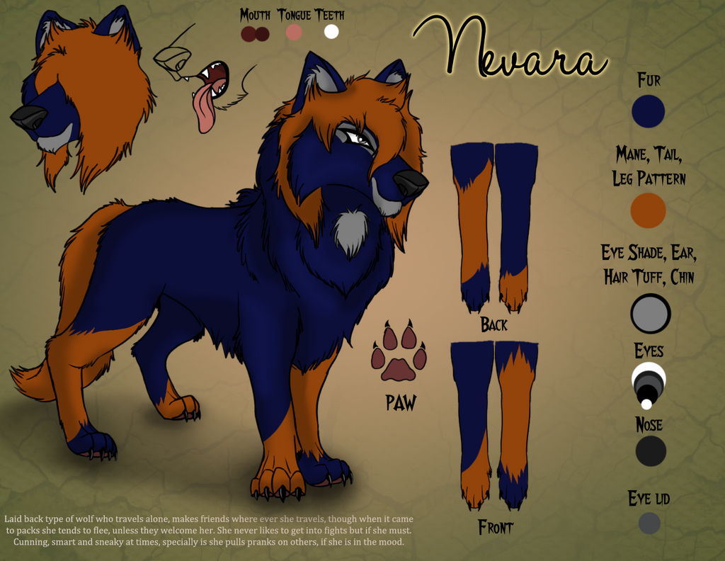 Nevara ref sheet by Kuot