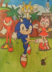 Sonic the hedgehog: Adventures're starting by Kwenta-N
