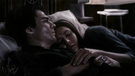 Nina Dobrev, Ian Somerhalder by Makarova17
