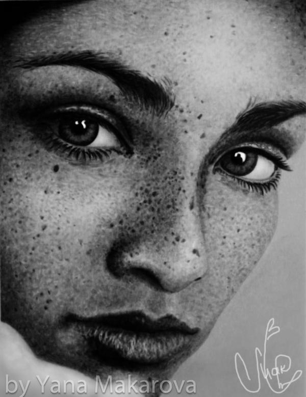 Girl with freckles 2 by Makarova17