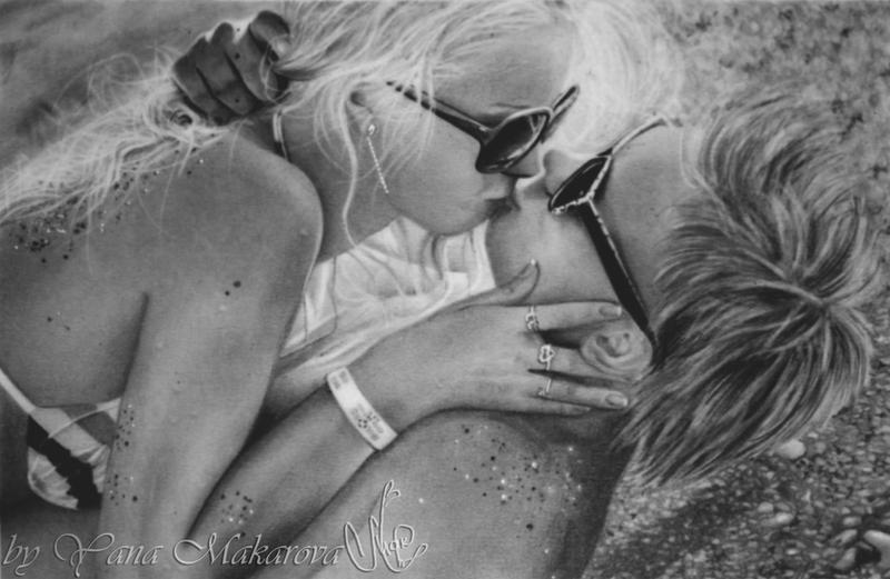 The romantic kiss by Makarova17