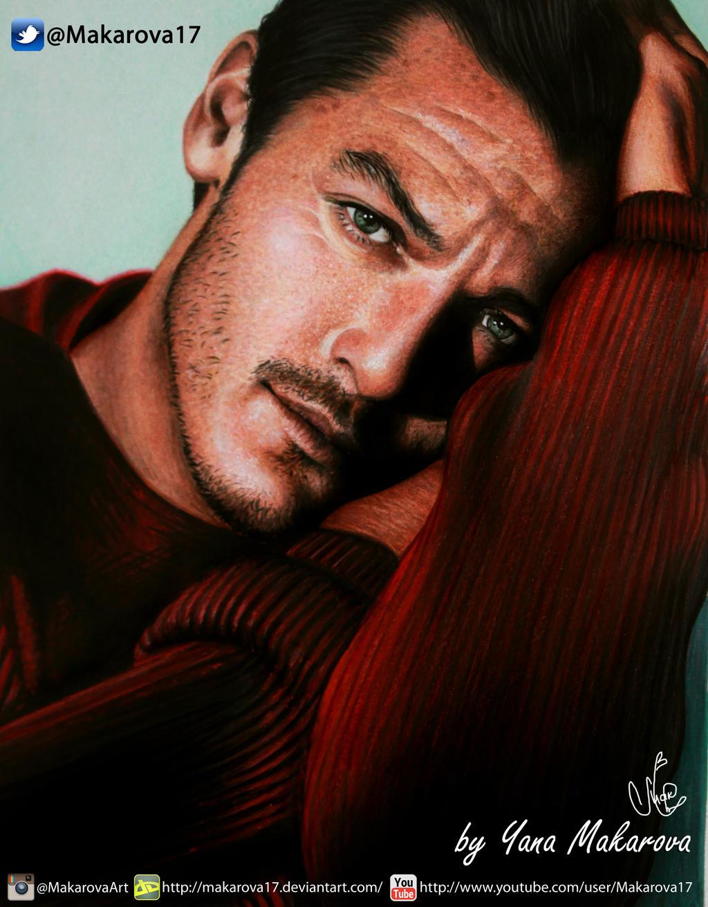 Luke Evans by Makarova17
