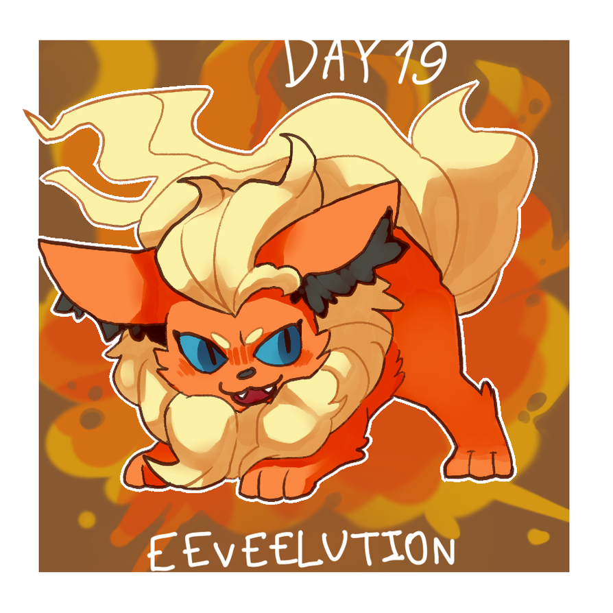 pokeddexy day 19:flareon by ScarfFetish