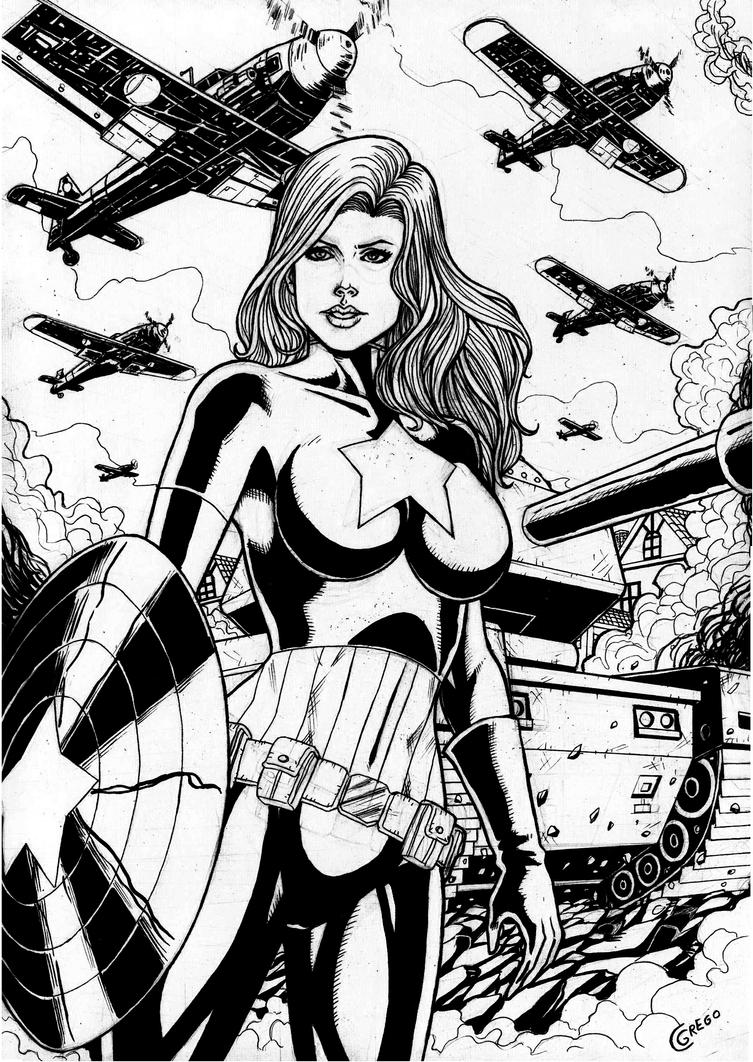 Captain America Girl by gregohq