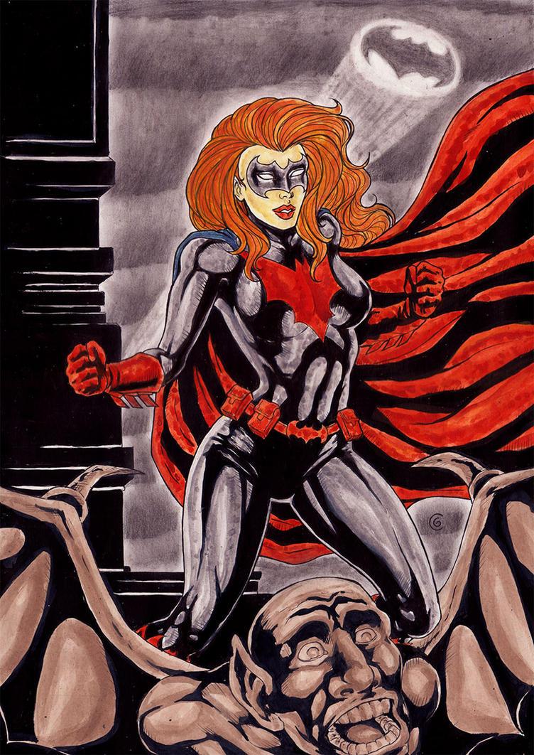Red Batgirl by gregohq