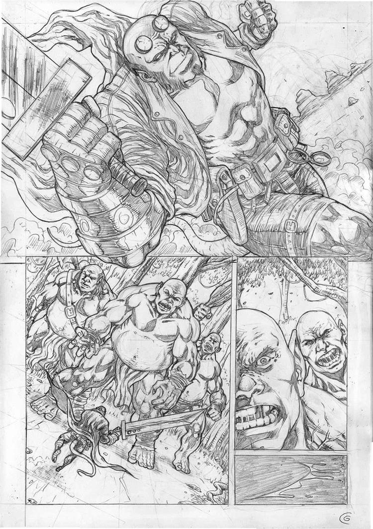 Hellboy Sample Page 01 by gregohq