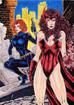 Black Widow And Scarlet Witch