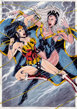Wonder Woman Vs Storm by gregohq