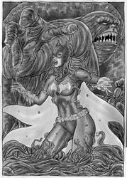 Batgirl Vs Clay Face22 by gregohq