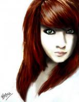 Redhead girl. by Fobeea
