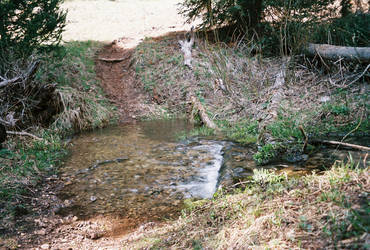 Fording a stream