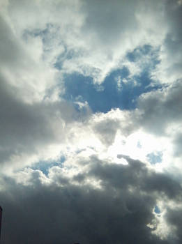 Sunlight in the clouds
