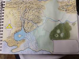 Commission: Legend of Zelda hand drawn map