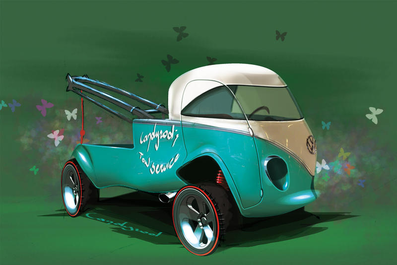 VW Van Tow truck by candyrod