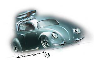 Custom VW Beetle Rod by candyrod