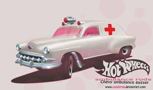 Chevy Gasser ambulance by candyrod