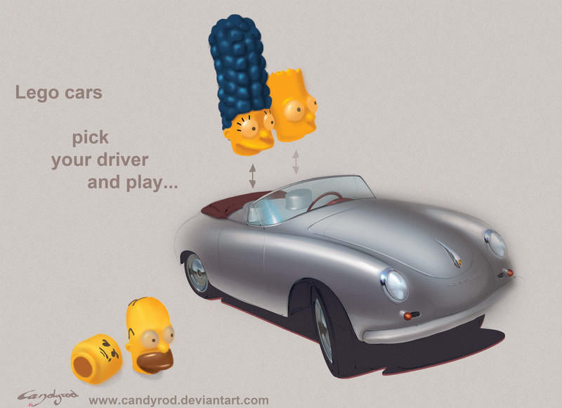The Simpsons Lego Porsche 356 by candyrod
