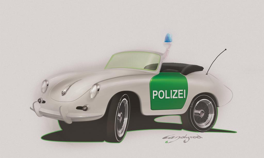 Porsche 356 polizei by candyrod