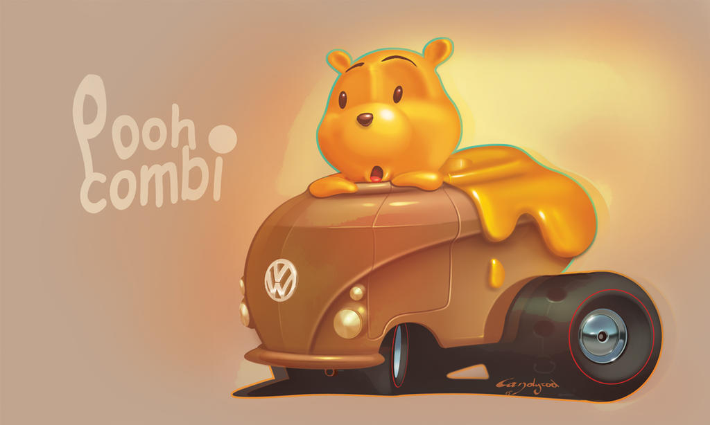 Winnie the Pooh Volkswagen by candyrod