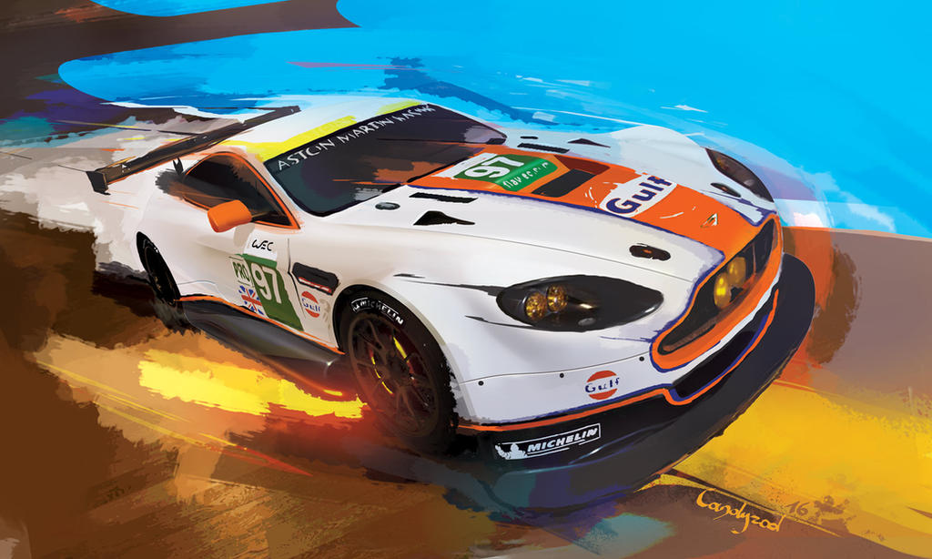 Aston Martin painting by candyrod