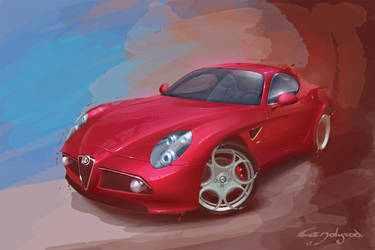 Alfa Romeo 8c by candyrod