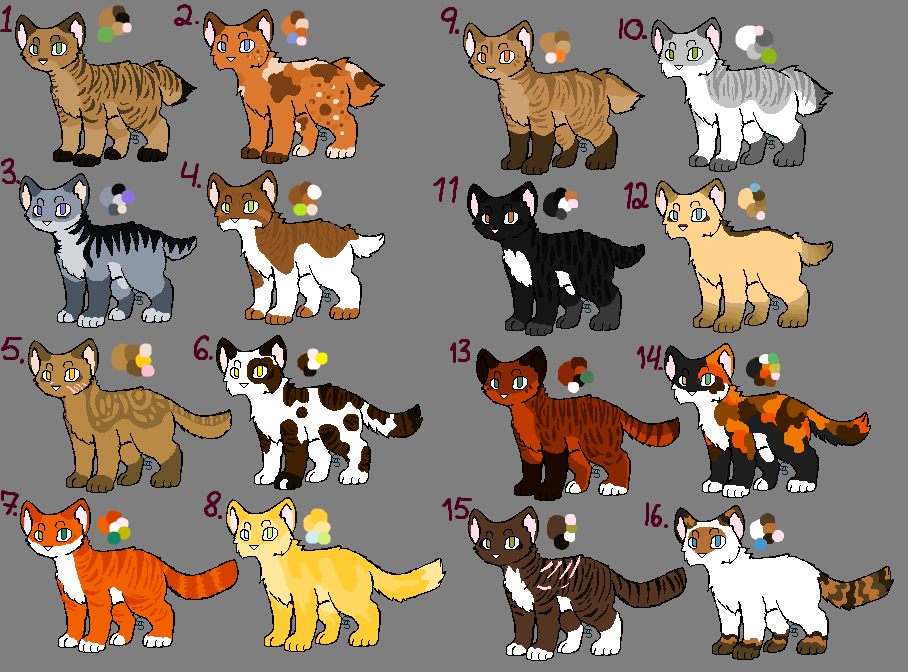 ::TCotV:: Adoptables by the 16 by Badluckbadkat