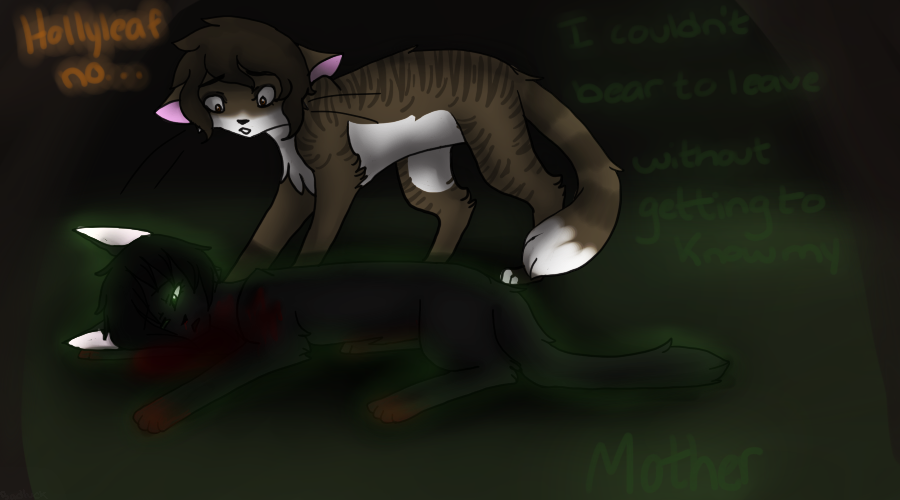 Hollyleaf's final words by Badluckbadkat