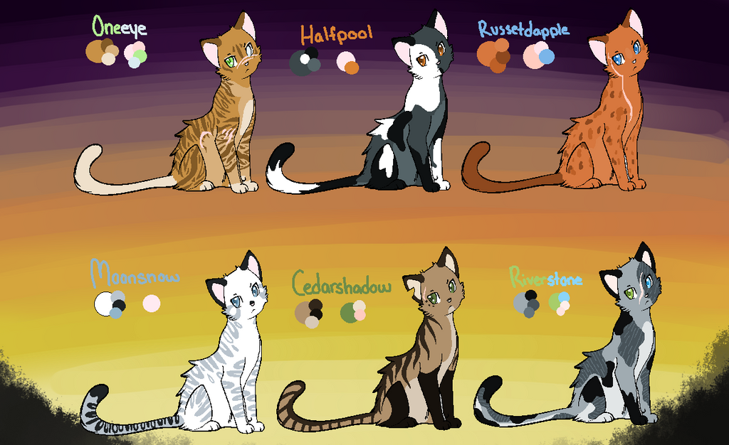 ::TCotV:: Meadow and Thornclan Adoptables by Badluckbadkat