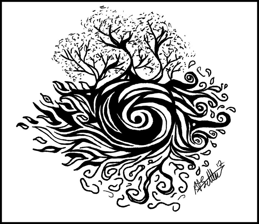 Earths Elements Tattoo Design by ArtofBekSutton