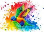 Rainbow Lorikeet by ArtofBekSutton