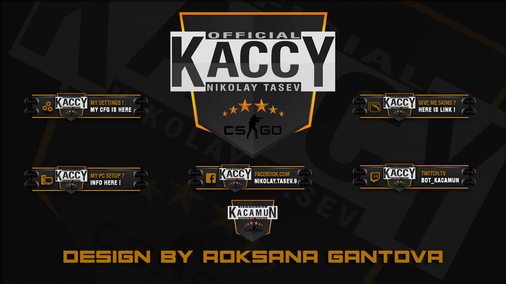 Kacy Panels for Twitch by r0xidesign