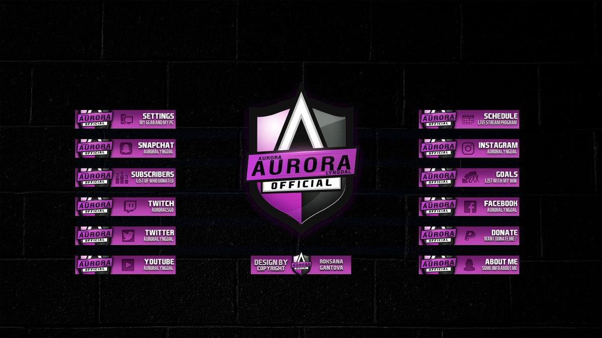 Panels twitch Aurora by r0xidesign