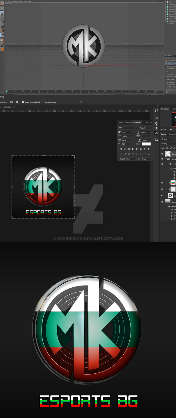 za logo MK by r0xidesign