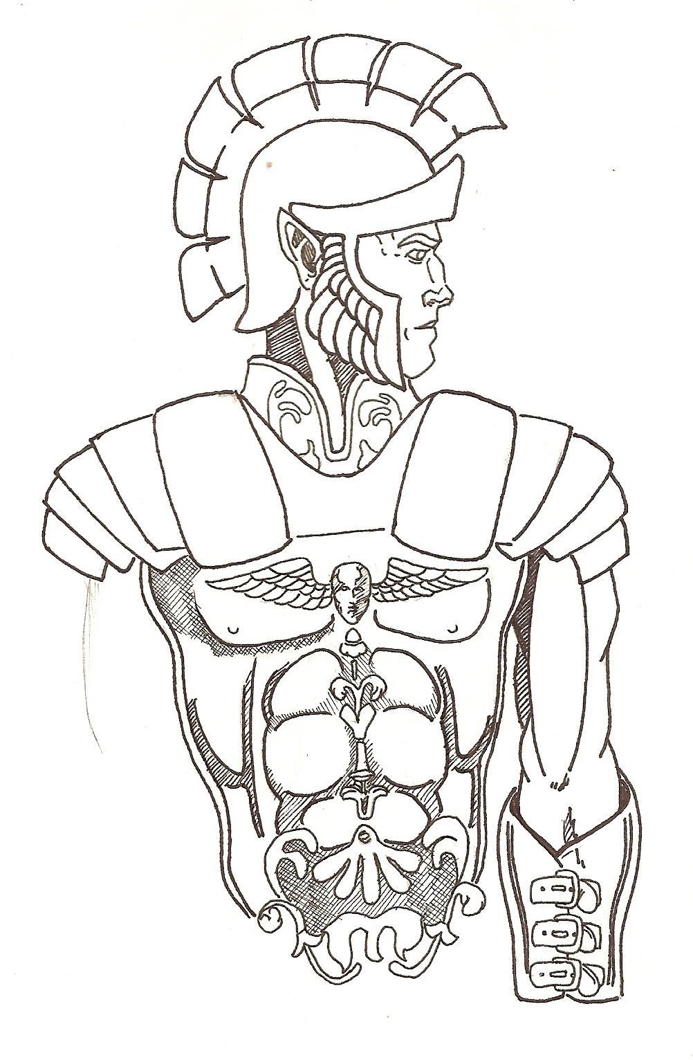 Elf Roman Armor Sketch By HeilHauser On DeviantArt