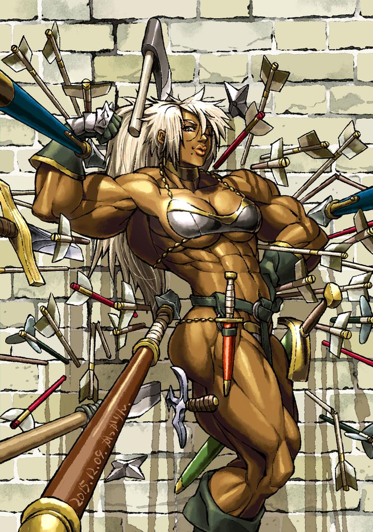 Female Warrior with Metal Bikini by kakkarin