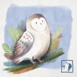 Digital illustration of an owl