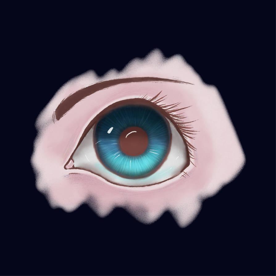 Digital watercolor eye