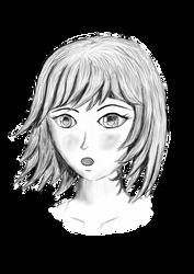 Manga Female - grey-some emotion by dsonck92