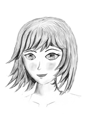 Manga Female - grey-laughing by dsonck92