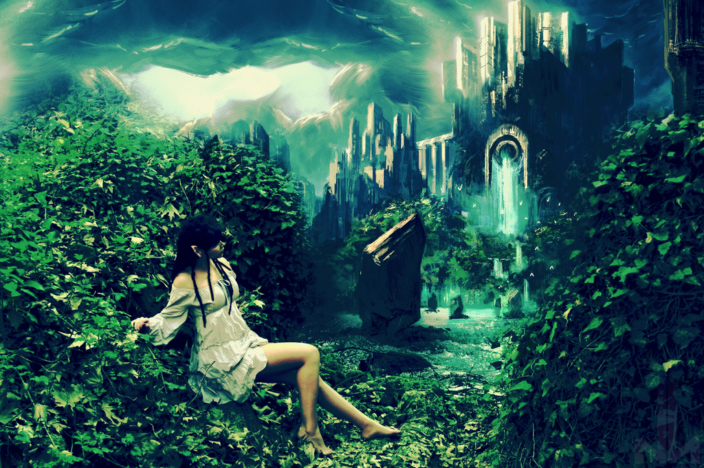 elf fantasy wallpaper by mrnikosn on deviantart