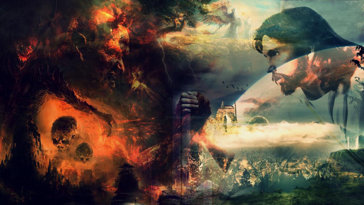heaven vs hell art - photo #31