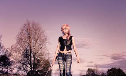 Dissidia 012 Lightning Cosplay Aya Brea Alter by Fantalusy