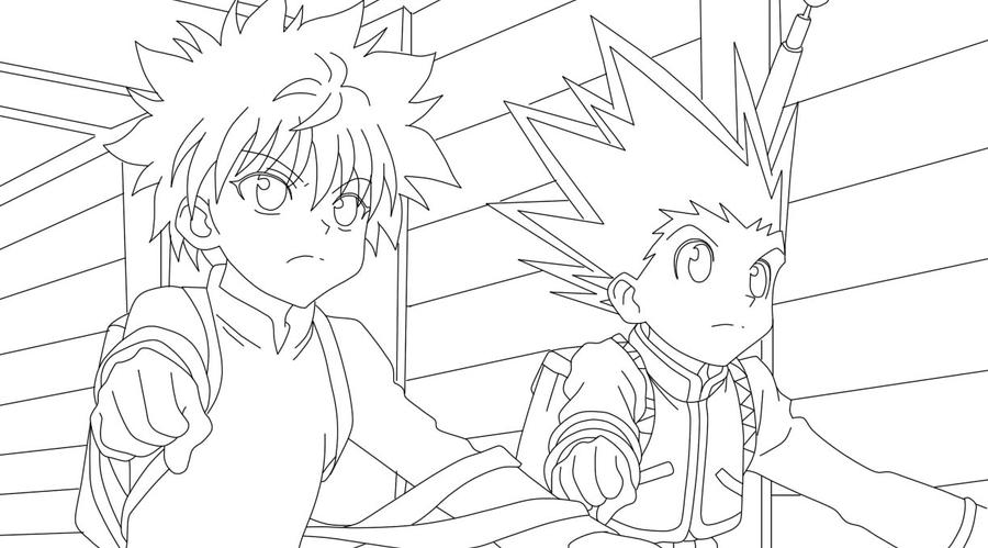 Gon And Killua Hunter X Hunter Coloring Pages