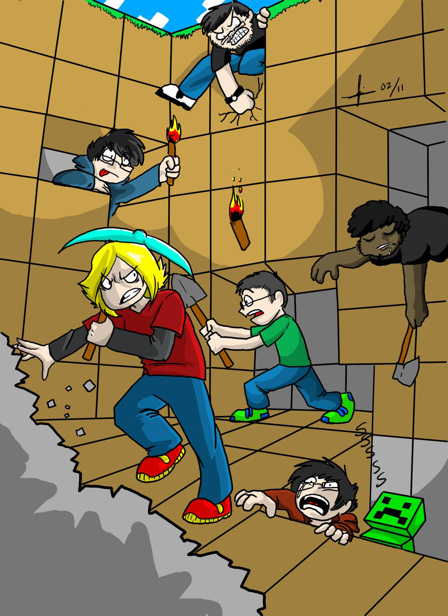 Minecraft fun with friends by katros
